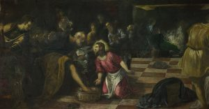 Christ washes the feet of his disciples