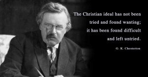 G.K. Chesterton, the Christian ideal and signs from God