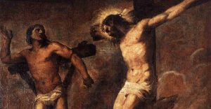 Christ and the good thief dismas