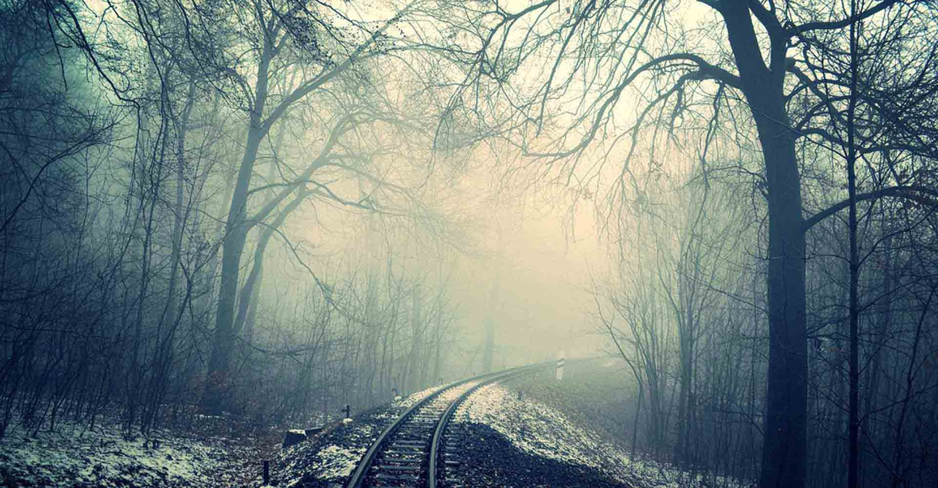 landscape, train tracks