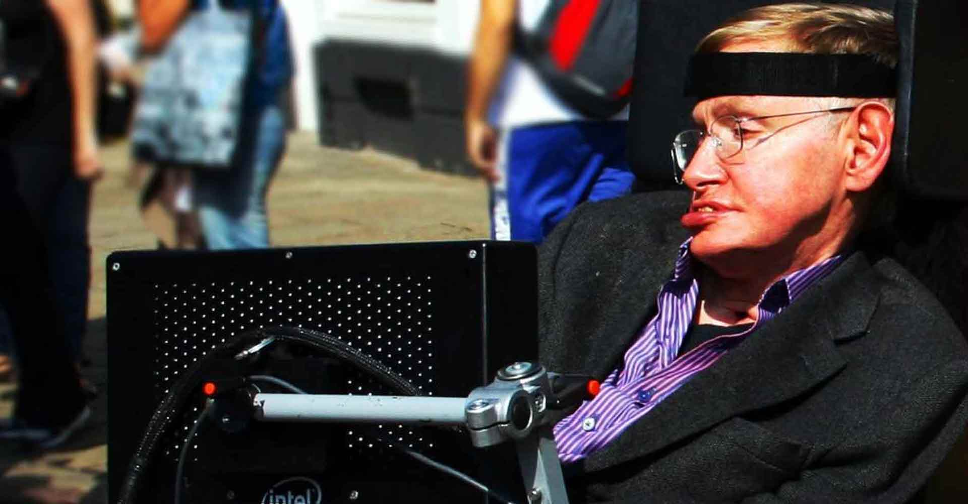 Stephen Hawking in Cambridge, the gravity god