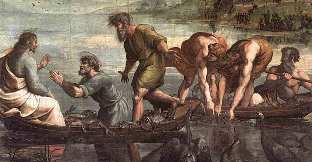 Miraculous Draught of Fishes, fishers of men