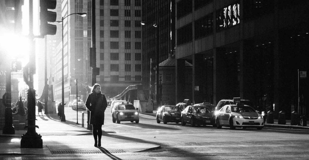 woman walking alone, abandonment, marginalized