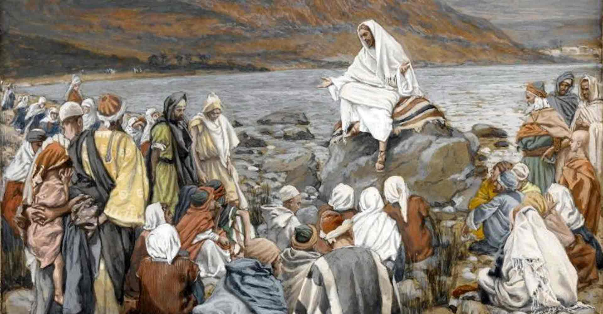 Jesus teaches the crowds by the sea