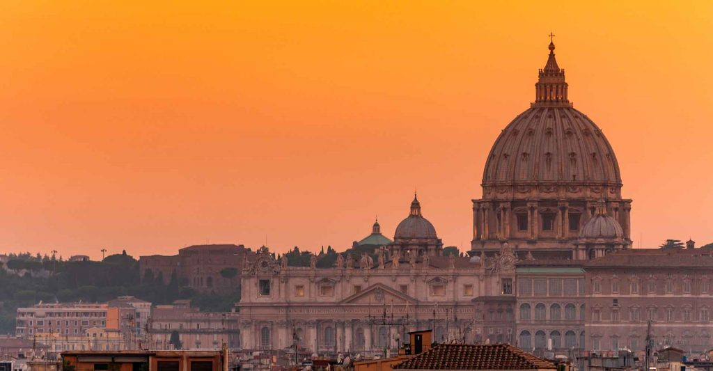 Skyline of St. Peter's Basilica, Joy In Truth