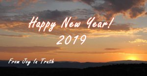 Happy New Year 2019 from Joy In Truth