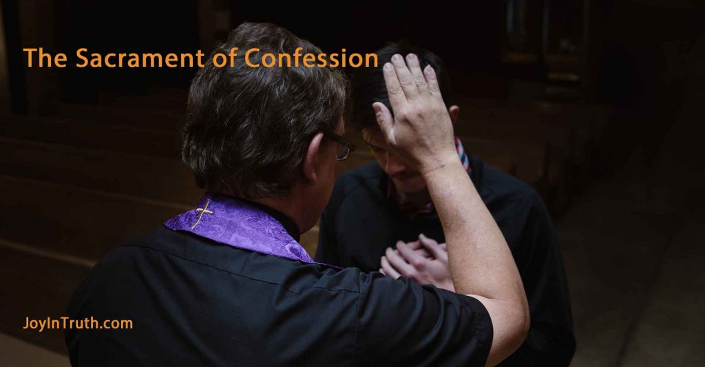 sacrament of confession, confessing sins, penance