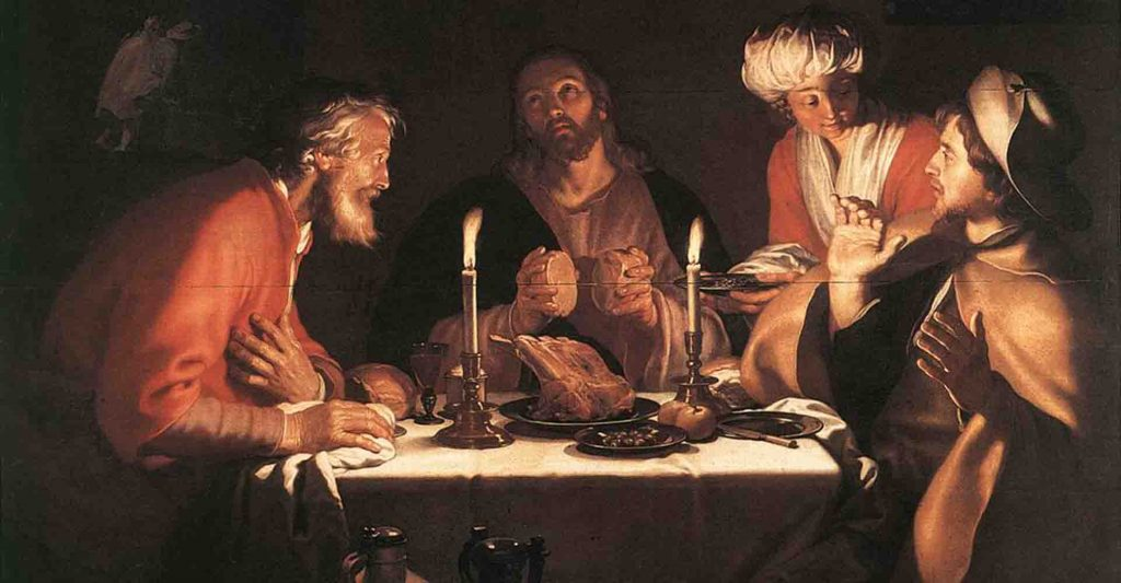 road to Emmaus, dinner with Jesus, breaking the bread